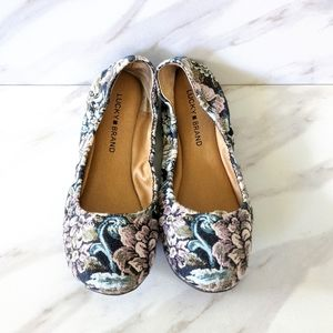 LUCKY BRAND Emmie Tapestry Floral Ballet Flats